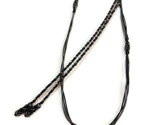 マクラメ編みネックレス紐【つる】すみ・くろの画像