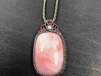585-ピンクオパールのネックレスの画像