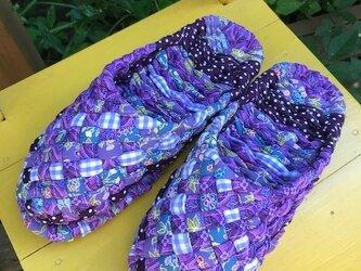 紫系ミックスのヨコスカスリッパ♪こんこん草履の進化形♬の画像