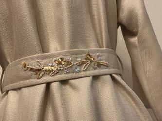 オートクチュール刺繍 上品ラメ入りスプリングコートの画像