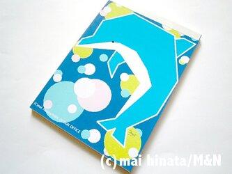 イルカのオリジナルイラストメモ帳の画像