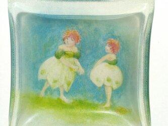 ミニマム妖精ガラスペーパーウェイト、スノーフレークの画像