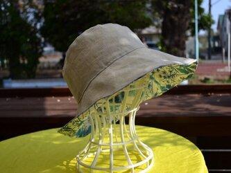 ベーシックナチュラル リネン リバティirma 帽子  55〜57cmの画像