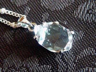 ハーキマーダイヤモンド(オイル入り)SVペンダントの画像