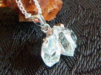 ツインハーキマーダイヤモンド(オイル入り)SVペンダントの画像