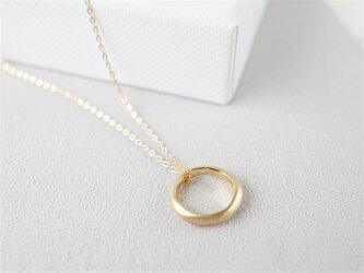 K18 Moon halo necklaceの画像
