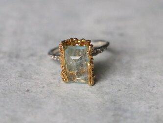 アートスタイル*天然アクアマリン 指輪*13号 SVの画像