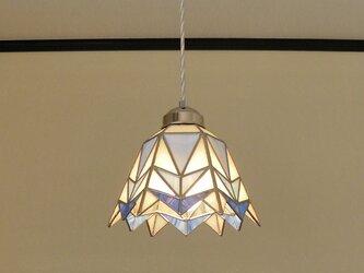 三角幾何学模様B(ステンドグラスペンダントライト)吊り下げ照明・ガラス  Lサイズ・(コード長さ調節可)21の画像