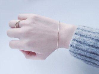 日向坂46着用*【14kgf】月バングル ブレスレット 腕輪 ゴールド 華奢 シンプルの画像