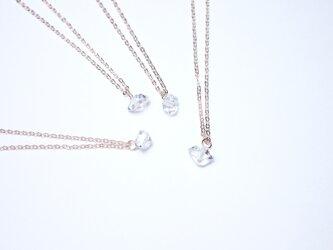 日向坂46着用*【14kgf/NYハーキマーダイヤモンド】シリウス 一粒ネックレス(40cm)の画像