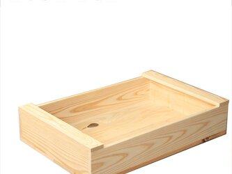 シンプルウッドボックス 桟付き 木箱 受注生産 オーダー可の画像