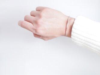 【SV930】銀月バングル ブレスレット 腕輪 シルバー 華奢 シンプルの画像
