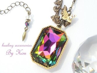 ✴Swarovski✴美しい虹色ネックレス。の画像