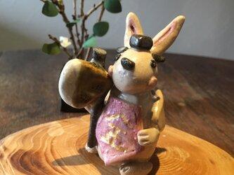 【五月飾り・端午の節句】金太郎うさぎ 陶器 の画像