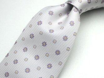 【受注制作】花小紋のハンドメイドネクタイの画像