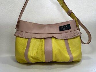 アナナス シャモア&イエロー  革2way ショルダーバッグ 斜めがけバッグの画像