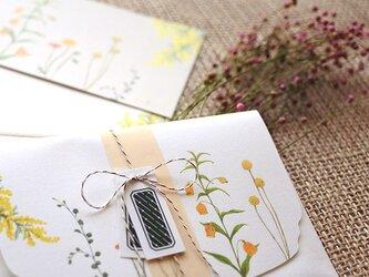 黄色い花たちのレターセットの画像