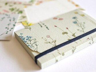 ケース付き*花たちのメッセージカード3colorsの画像