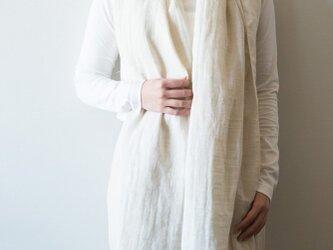 Organic Cotton&linen Wガーゼストール【50㎝幅】の画像
