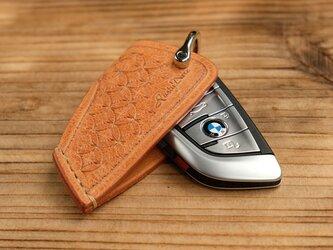 キースリーブ BMW5スライドオープン /イタリア産高級レザー:ナチュラル *受注製作/スタンピングの画像