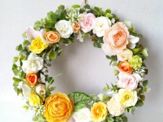 ~flowerMix~*春色~ ナチュラルリース☆の画像
