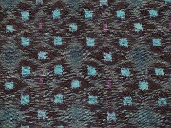 kh001402 色絣木綿ハギレ50cm☆古布・古裂 /筒描き/型染め/藍染/の画像