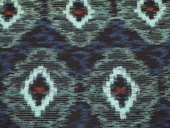 kh0017 菱紋様色絣木綿ハギレ☆古布・古裂 /筒描き/型染め/藍染/の画像
