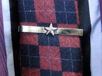 真鍮ブラス製 ミニスター型ネクタイピン(タイバー)1個 ネクタイ・ポケットの飾りにの画像
