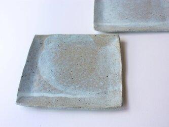 松灰釉四角平皿の画像
