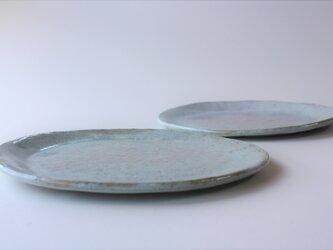 松灰釉オーバル平皿の画像