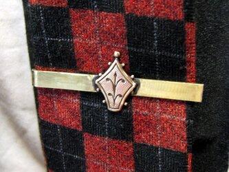 真鍮ブラス製 ミニエンブレム型ネクタイピン(タイバー)1個 ネクタイ・ポケットの飾りにの画像