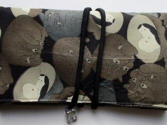 送料無料 羽織の裏地で作った和風財布・ポーチ 3412の画像