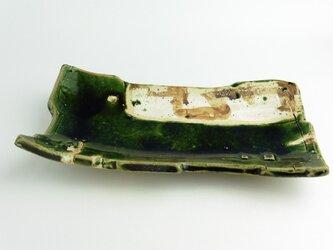 織部 鉄絵板皿の画像