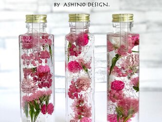 "herbarium ""GIRL"" ーpinkー middle bottle 150ml 【ハーバリウム】の画像"