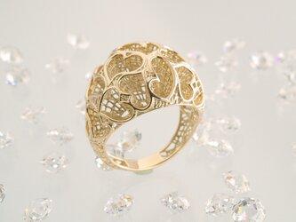 inGod jewels LoveRing 『セブンティーン ハート』18金イエローゴールドの画像