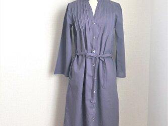 夏コート ロングシャツワンピース 【グレイパープル】の画像