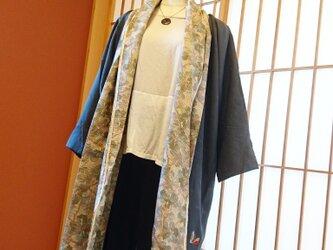着物でリメイク★バッサリ羽織れる上着の画像