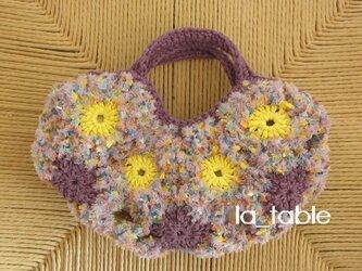 花たくさんのバッグ bébé「CONFETTI」の画像