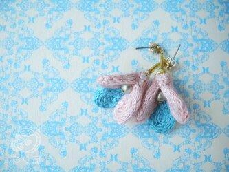 耳飾り【pukupuku】ピンクの画像