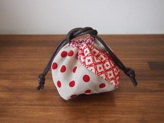 刺し子の幸せ袋【十字刺し】(小)の画像
