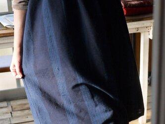 久留米絣ノースリーブワンピースの画像