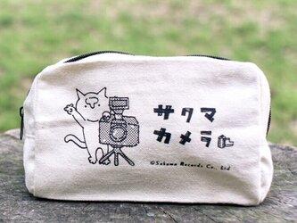 サクマカメラポーチM 撮影するサクマの画像