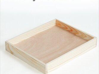 ベーカリーウッドボックス Mサイズ 木箱 トレイ ブレッド パンの画像