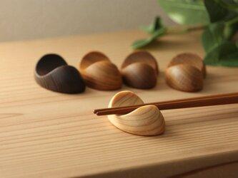 木の箸置き 豆形 5種セットの画像