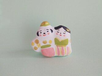 張り子 春のひな人形  小(d)の画像