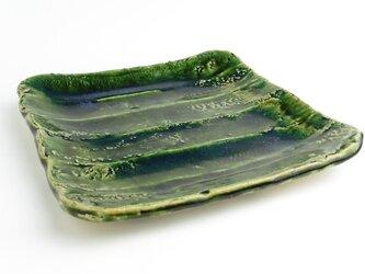 織部 鎬(しのぎ)四方皿の画像