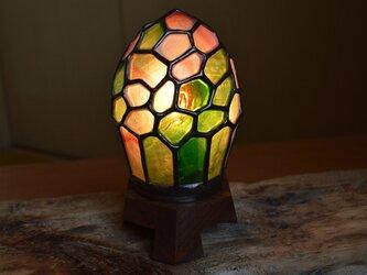 春色ガラスランプの画像