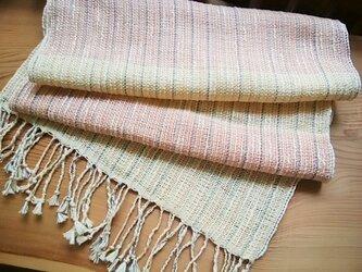手織りストール(ピンク)の画像