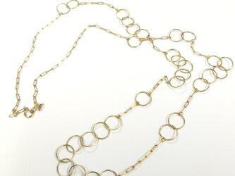 bubble chain necklaceの画像