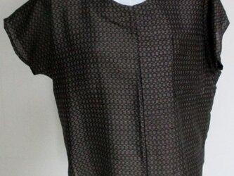 送料無料 正絹の着物で作ったプルーオーバー 3420の画像